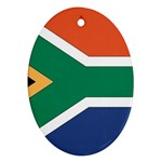 Flag_South Africa Oval Ornament (Two Sides)