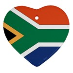 Flag_South Africa Heart Ornament (Two Sides)