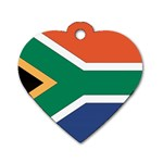 Flag_South Africa Dog Tag Heart (One Side)
