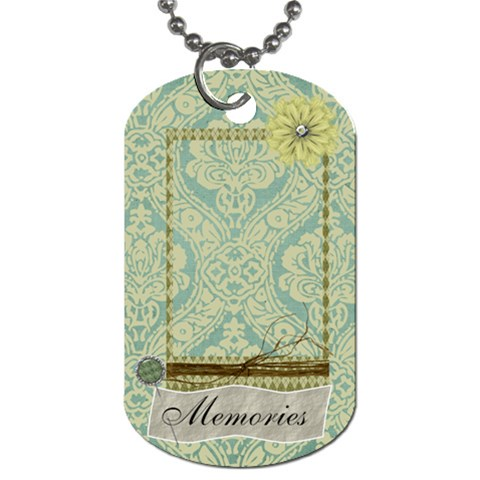 Modern Heritage Memories Dog Tag By Bitsoscrap   Dog Tag (one Side)   0nnklyrm88mz   Www Artscow Com Front