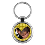 Yellow heart - Key chain - Key Chain (Round)