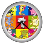 Monster - CLOCK - Wall Clock (Silver)