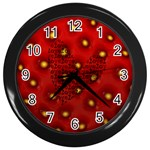 Strawberry love - CLOCK - Wall Clock (Black)