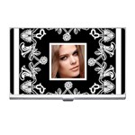 art nouveaublack & white business card holder