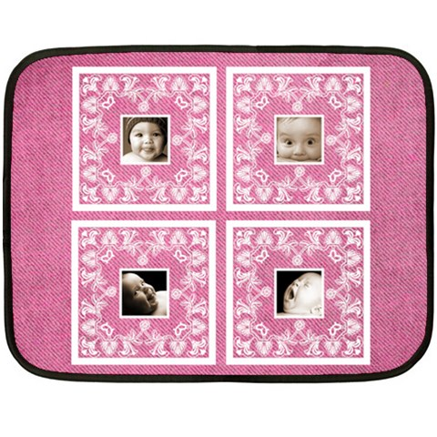 Pink Baby Lace Mini Fleece By Catvinnat   Fleece Blanket (mini)   B36zdxlqn7dw   Www Artscow Com 35 x27 Blanket