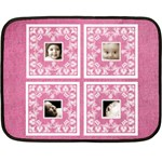 Pink Baby Lace mini fleece - Mini Fleece Blanket
