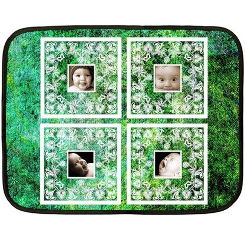 Green Baby Lace Mini Fleece By Catvinnat   Fleece Blanket (mini)   758x3bz2twt4   Www Artscow Com 35 x27 Blanket