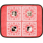 Red BabyLove Lace mini fleece - Mini Fleece Blanket