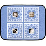 Blue BabyLove Lace mini fleece - Mini Fleece Blanket