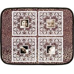 Leopard Skin BabyLove Lace mini fleece - Mini Fleece Blanket