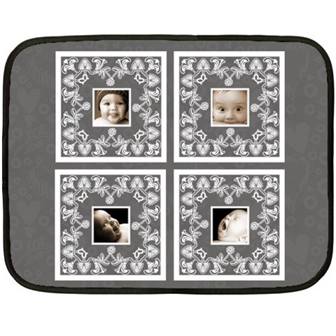 Almost Black Babylove Lace Mini Fleece By Catvinnat   Fleece Blanket (mini)   Ha4xypdvbma1   Www Artscow Com 35 x27 Blanket