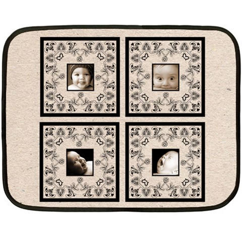 Black Lace Beige Babylove Lace Mini Fleece By Catvinnat   Fleece Blanket (mini)   Xo30mxvno57u   Www Artscow Com 35 x27 Blanket