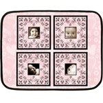 Black lacepale pink BabyLove Lace mini fleece - Fleece Blanket (Mini)