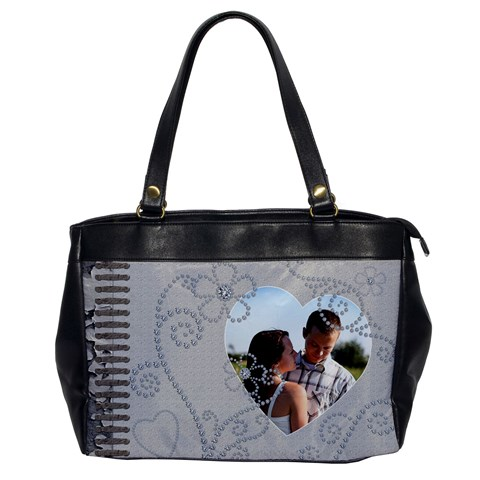 Diamonds & Grunge Handbag By Lil    Oversize Office Handbag   Zn48t4d7lkoq   Www Artscow Com Front