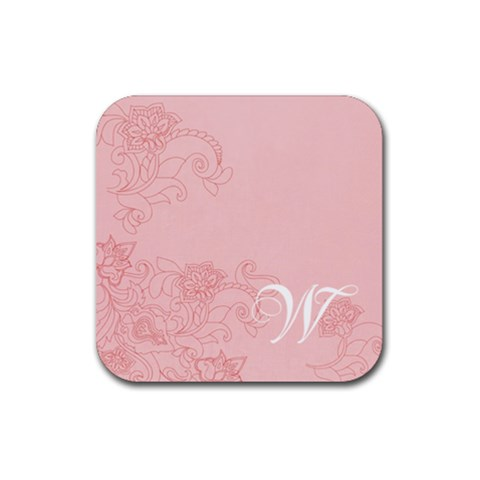 Initial Coaster By April Williams   Rubber Square Coaster (4 Pack)   Aatj4gw4e68q   Www Artscow Com Front