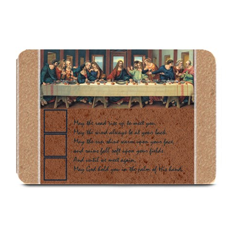 Last Supper Blessings Placemat By Catvinnat   Plate Mat   H5cwvdeaaoas   Www Artscow Com 18 x12 Plate Mat - 1