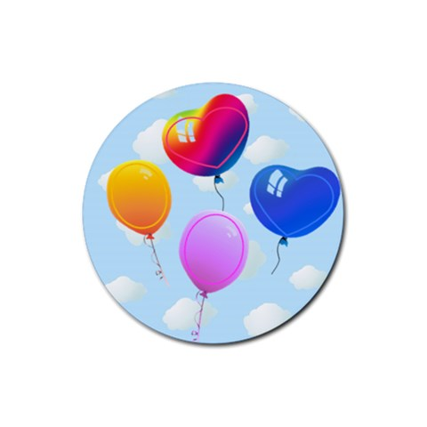Coaster Balloons By Galya   Rubber Coaster (round)   Koz1u9w1xkfb   Www Artscow Com Front