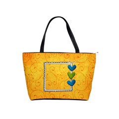 Love Yellow Bag By Albums To Remember   Classic Shoulder Handbag   Fbit3myz0z2e   Www Artscow Com Front