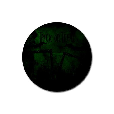Halloween Coaster 02 By Carol   Rubber Coaster (round)   Vjhvkj4wtje3   Www Artscow Com Front