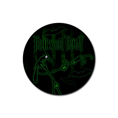 Halloween Coaster 06 By Carol   Rubber Coaster (round)   Ha15duvuo36a   Www Artscow Com Front