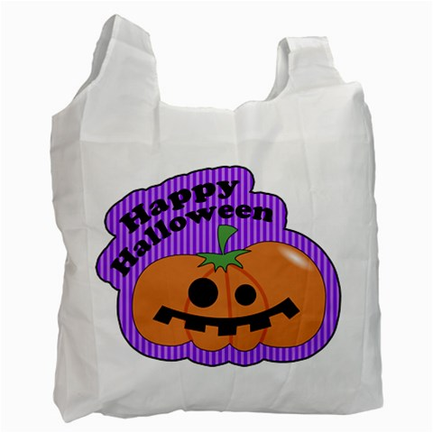 Halloween Bag 04 By Carol   Recycle Bag (one Side)   1lbk90yg4nnl   Www Artscow Com Front