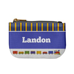 Train & Stripes Mini Coin Purse By Klh   Mini Coin Purse   130217   Www Artscow Com Front