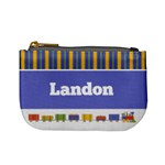 Train & Stripes Mini Coin Purse