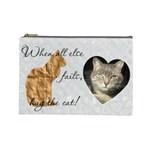 Cat Large Cosmetic Bag - Cosmetic Bag (Large)