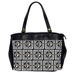 Art Nouveau Multi Frame Black & White Oversized Bag By Catvinnat   Oversize Office Handbag (2 Sides)   Hplre2r1jfsc   Www Artscow Com Front