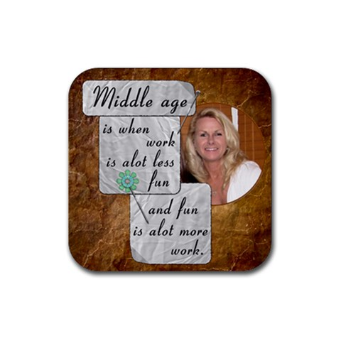 Middle Age Coaster #1 By Lil    Rubber Coaster (square)   7cr1jq8nye07   Www Artscow Com Front