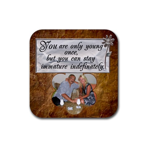 Middle Age Coaster #4 By Lil    Rubber Coaster (square)   9wsm98xakvh5   Www Artscow Com Front