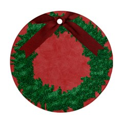 Cristmas Round 2010 By Melinda Bow   Round Ornament (two Sides)   Koh60xhj7r8l   Www Artscow Com Front