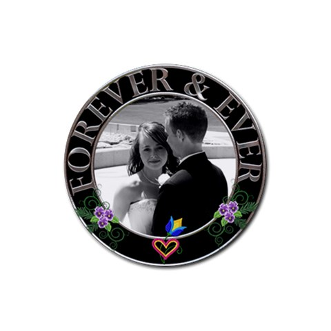 Forever & Ever Coaster By Lil    Rubber Coaster (round)   Y06c074mwczz   Www Artscow Com Front