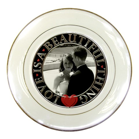 Love Is A Beautiful Thing Plate By Lil    Porcelain Plate   Zv8026b8sdg5   Www Artscow Com Front