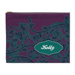 Purple & Turquoise XL Cosmetic Bag - Cosmetic Bag (XL)