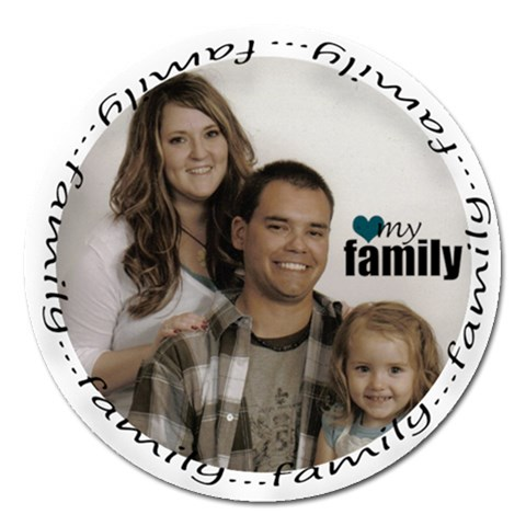 Family Magnet By Amanda Bunn   Magnet 5  (round)   Ctpenf5lnifl   Www Artscow Com Front