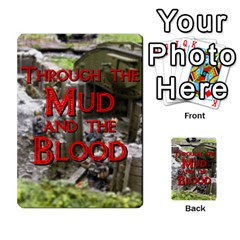 Mud And Blood Cards Pt I By Adrian Jarvis   Playing Cards 54 Designs   U5vx47bsbbkc   Www Artscow Com Back