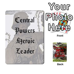 Mud And Blood Central Powers By Adrian Jarvis   Playing Cards 54 Designs (rectangle)   9u9gzhdkmn4x   Www Artscow Com Front - Heart7