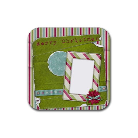 Christmas  By Melinda Bow   Rubber Coaster (square)   Rqk2b294uahn   Www Artscow Com Front