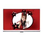 Red flower lady - Business Card Holder
