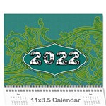 2015 Bright Colors Calendar - Wall Calendar 11  x 8.5  (12-Months)