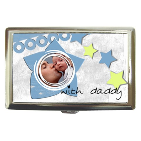 With Daddy   Cigarrette Money Case By Carmensita   Cigarette Money Case   Kxpki7pjzl8l   Www Artscow Com Front