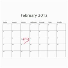 Paul Calendar By Lia Simcox   Wall Calendar 11  X 8 5  (18 Months)   Ufs4xcxmew8a   Www Artscow Com Feb 2012