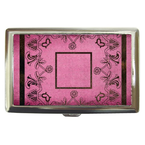 Classic Pink Cigarette Money Case  By Catvinnat   Cigarette Money Case   Acnvz6ay6isj   Www Artscow Com Front