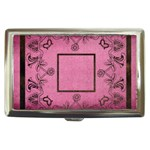 classic pink cigarette money case