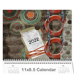 Graffiti Calendar By Cherish Collages   Wall Calendar 11  X 8 5  (12 Months)   Ds8qcy7y33yl   Www Artscow Com Cover