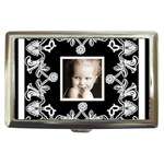 classic black & white cigarette money case