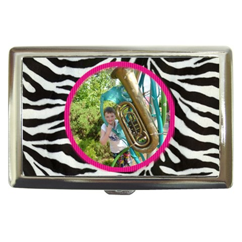 Funky Zebra Cigarette Money Case  By Catvinnat   Cigarette Money Case   7zz55y7hm28p   Www Artscow Com Front