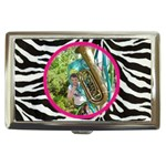 funky zebra cigarette money case