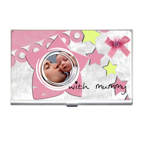 Girl With Mummy   Business Card Holder By Carmensita   Business Card Holder   Treivyvd620g   Www Artscow Com Front